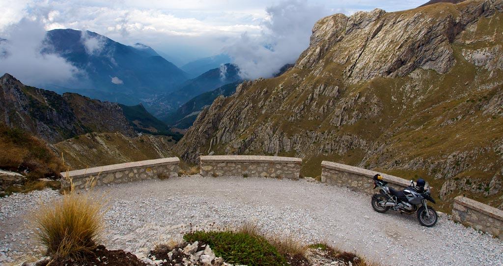 Bike midway around the Col de la Boaire