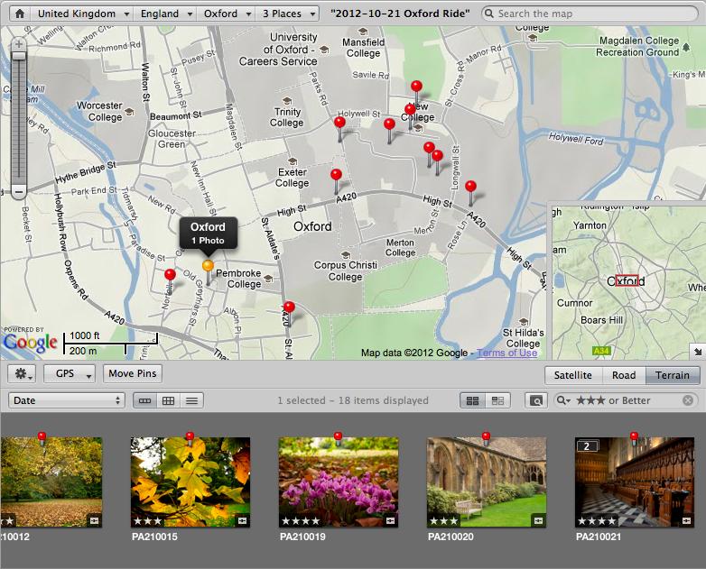 Apple Aperture screen shot