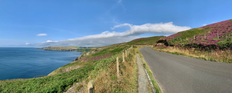 Pretty coastline road in the sunshine