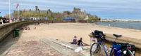 Ridgeback Panorama touring bike parked near Peel Castle