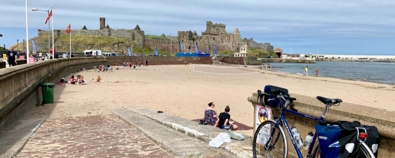 Ridgeback Panorama touring bike parked near Peel Castle