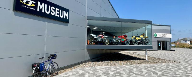 Ridgeback Panorama touring bike parked near the Isle of Man Motor Museum
