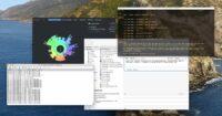 Screen-grab showing a bunch of windows on my Mac's desktop